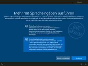 Windows 10 - Grundeinstellung Sprachsteuerung