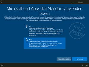 Windows 10 - Grundeinstellung Standortverwendung