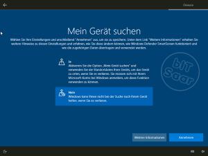 Windows 10 - Grundeinstellung Gerät suchen
