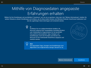 Windows 10 - Grundeinstellung Diagnosedaten an Microsoft senden