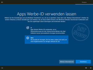 Windows 10 - Grundeinstellung Werbe-ID