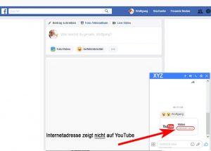 Videonachrichte Facebook-Messenger