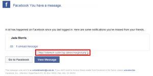 Phishing-E-Mail Facebook