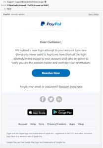 Phishingversuch PayPal-Konto