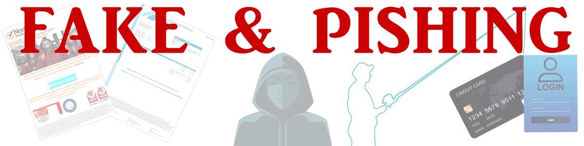 von Viren, Trojaner und anderen Schädlingen - Fake und Pishing