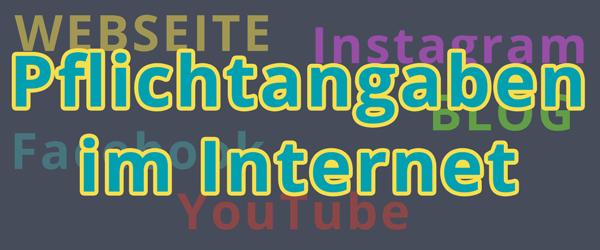 Online-Pflichtangaben